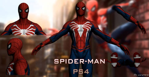 Spider-Man costume PS4 Shows by LaxXter