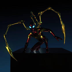 Iron Spider final design - the revenge of Ultron by LaxXter