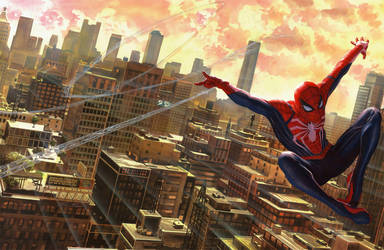 Marvels Spider-Man Game By Alex Ross by LaxXter