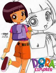 dora the explorer colored by reijr