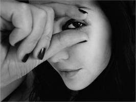 portrait with fingers by Athines
