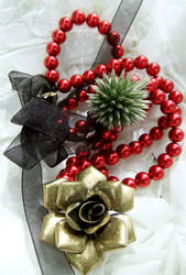 Christmas Rose Necklace by SRTolton