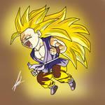 Goku SSJ3 Kid painting by rehash435