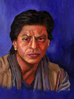 Shahrukh Khan portrait by rehash435