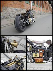 Custom-built Triumph bike detail by 22zddr