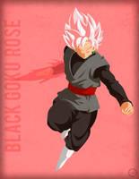 Black Goku Rose - Minimalist by Horira21