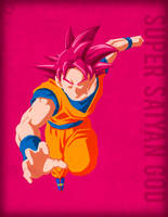 Goku SSJ God - Minimalist by Horira21