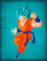 Goku Blue - Minimalist by Horira21