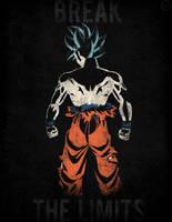 Ultra instinct Goku - Minimalist Poster by Horira21