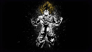 Son Goku, the Super Saiyan - Minimalist Wallpaper by Horira21