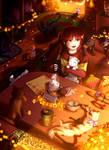 Autumn Cat Cafe [My Cat Complex Contest Prize] by ReiAndHana
