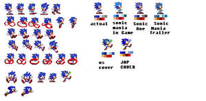 Toei Sonic Sprites by Mobian-Shadowtails