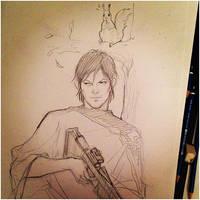 Daryl Dixon - The Walking Dead season 4 by TOMATOZOMBIE