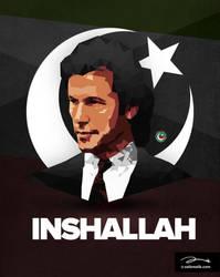 PTI InshAllah Poster by zaib