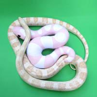 Pink snow corn snakes by WeirdBugLady