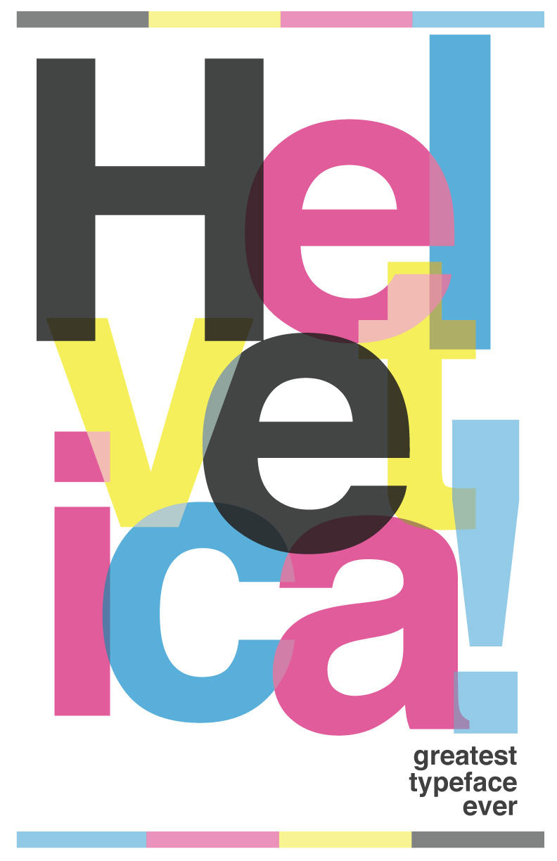 Helvetica Poster by 2canart