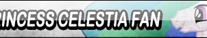 Princess Celestia Fan Button by Kyu-Dan