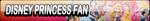 Disney Princess Fan Button by Kyu-Dan