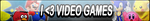 I Love Video Games Button by Kyu-Dan