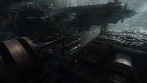 Derelict Ship Interior by everlite