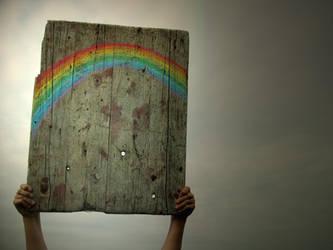 rainbow in the sky by LenaCramer
