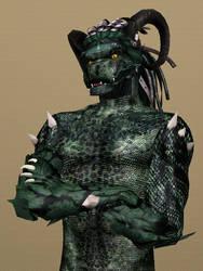 Sims 3 Lizardman by CamKitty2