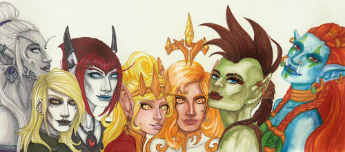 Azeroth Ladies by Daisy-Pushing