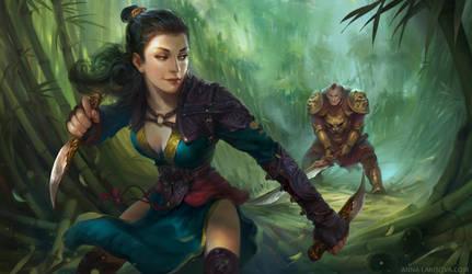 Shadow Fight by anna-lakisova