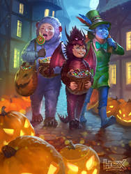 Trick or Treaters ! by anna-lakisova