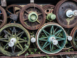 Old train wheels 2 by Inilein