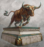 Bull statue by Maradraws