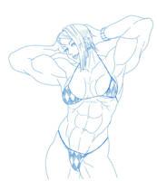 Bikini lady by blackkheart