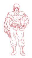 Jill muscular version by blackkheart