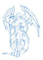 Dragon Girl sketch by blackkheart