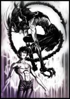 Akira and Amon Devilman by AlessandroMancini