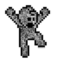 Psychedelic Man BW by bakkeby