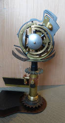 Steampunk EMP Tesla Arc grenade backside by Anselmofanzero
