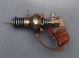 Custom Steampunk mini raygun by Anselmofanzero