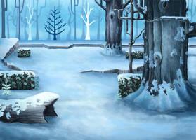Lost in a Winter Glade by jabberwocky-47