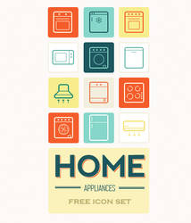 Home appliances icon set by king-pavian