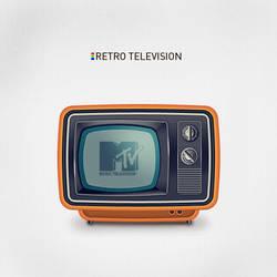 Retro tv-set icon by king-pavian