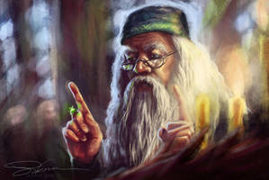 Harry Potter fanart - Albus Dumbledore by makota