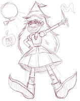Star Butterfly As A Witch by Alexander-LR