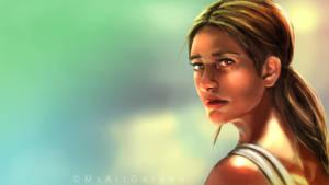 Lara Croft by MsArtGarden