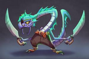 Sea Dragon Pirate! by MichelVerdu