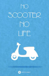TOTO Retro Means of Transport Tee Design - Scooter by totoproduction