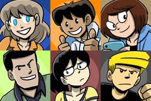 DoA character coaster arts by itswalky
