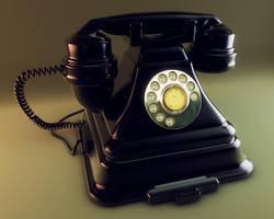 Cinema 4D Retro Phone by TonyHarris