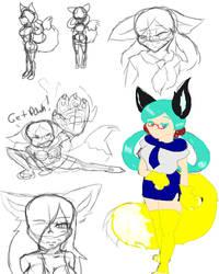 Foxglove Rough Sketch 1 by GamerMomRPG