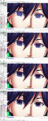 Eye Tutorial in Paint Tool SAI by Kazushin14